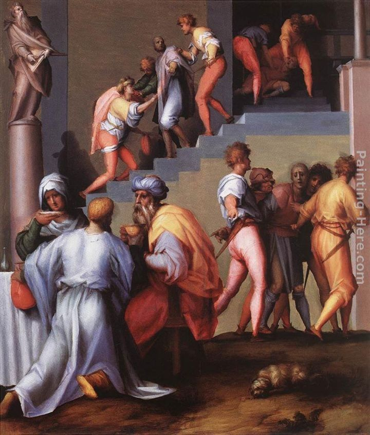 Jacopo Pontormo Punishment of the Baker